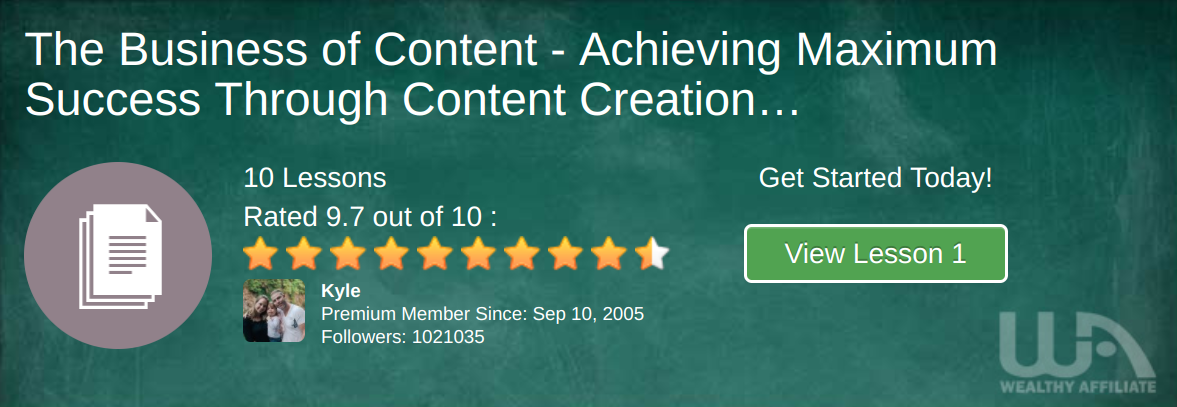 Level #5 Affiliate Marketing Training - Content Creation